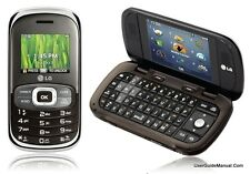 LG Octane VN530 - Silver Brown (Verizon) Cellular Phone Must Read
