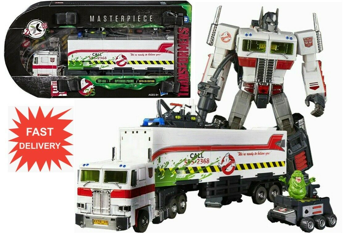 Hasbro  Transformers SDCC Ghostautoautobusters MP-10 G ECTO-35 Optimus Prime Fast Ship  da non perdere!