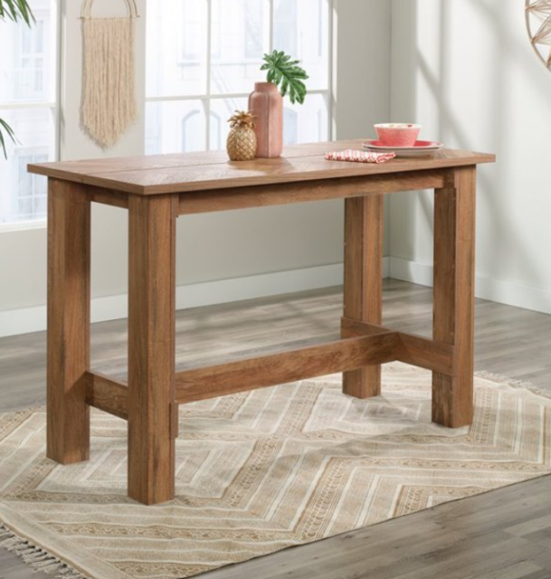Marble Look Table Espresso Finish Britney Counter Table Only Features Wood For Sale Online Ebay