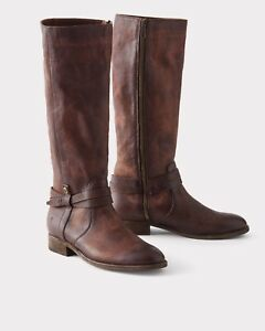 088b68d86dd Image is loading FRYE-MELISSA-BELTED-TALL-BOOTS-REDWOOD-70500-EXTENDED-