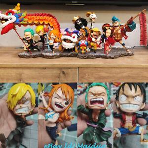 LBS One Piece Straw hat Pirates Luffy Figurine Happy Chinese New ... 0c6cff8138f
