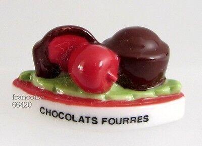 Fève de collection porcelaine / de la serie le chocolat 2009 / CHOCOL FOURRES