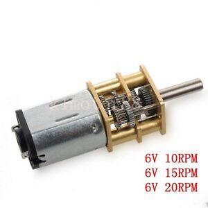 10rpm-40rpm 1:1000 Dc6v//12v Getriebemotor Hohes Drehmoment N20 Metall