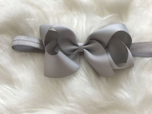 Big Bow Baby Girls Headbands Bow Soft Headbands Elastic Band 5 Inches Hair Lot