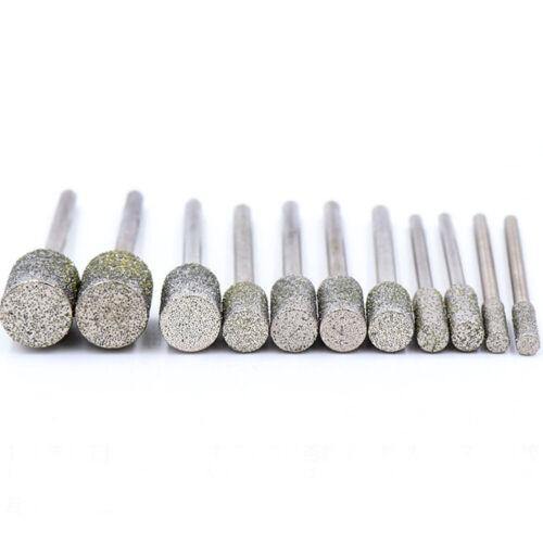 0.5mm-10mm Diamond Burr Grinding Engraving Bit 2.35//3mm Shank for Dremel Rotary