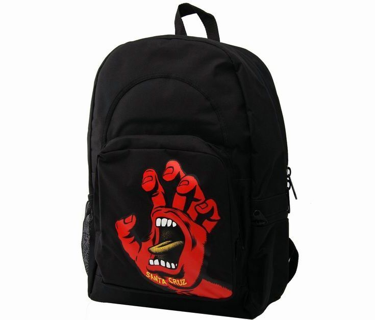 SANTA CRUZ Rucksack *Screaming Hand*, schwarz / rot