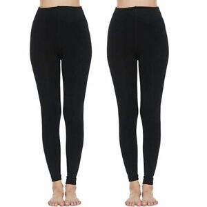 LADIES WOMEN THERMAL TIGHT FLEECE LINED WINTER THICK BLACK 2.3 TOG RATED S-XXL