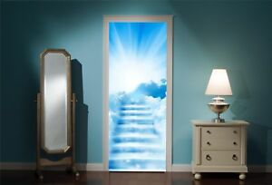 Door-Mural-Stairway-to-Heaven-View-Wall-Stickers-Decal-Wallpaper-235
