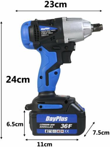 1//2/'/' Impact Wrench Cordless Battery 21V 6000mAh Craftsman High Torque LED Tool