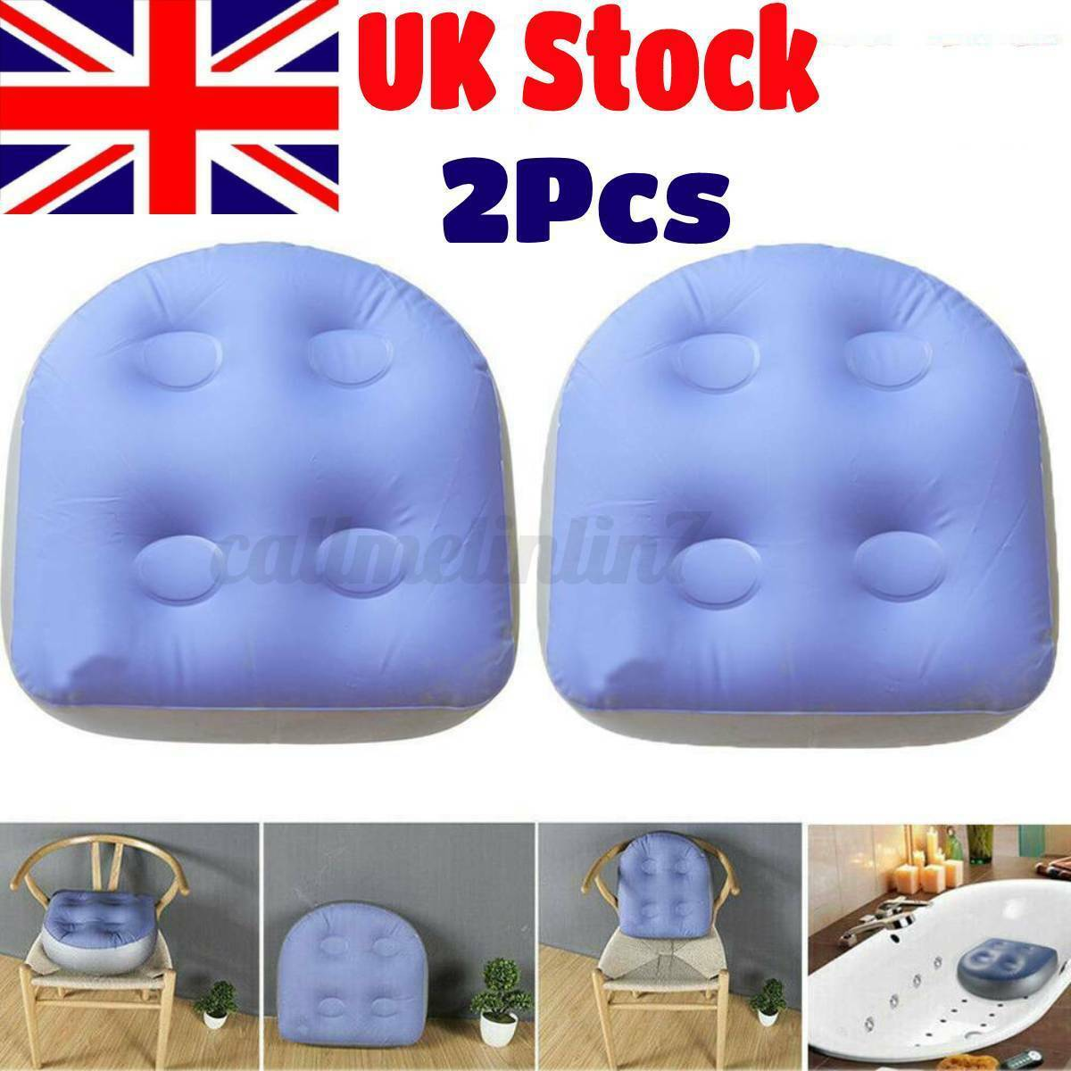1-2 Pcs Inflatable Booster Seat Spa Hot Tub Lazy Spa Pools Cushion Office