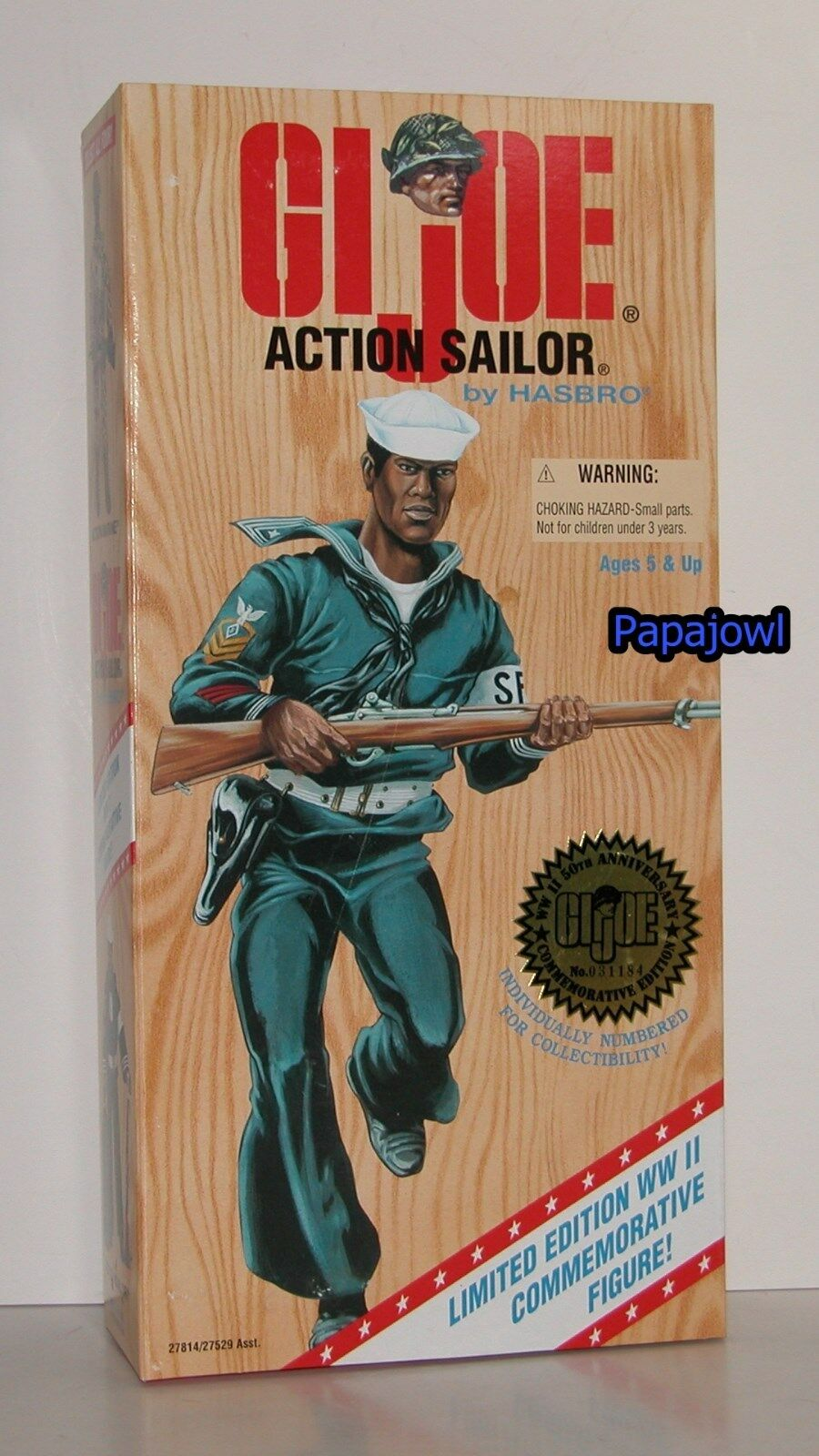 GI Joe Limited Edition WWll 50th Action Sailor 12  Figure Hasbro 1996