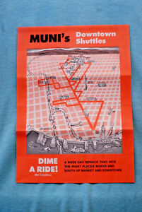 Muni Downtown Shuttles Dime a Ride Brochure Map San