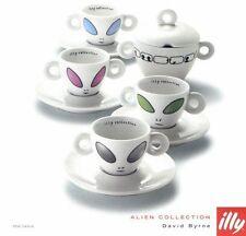 David Byrne Talking Heads Limited Edition Illy Espresso Alien Coffee Cups