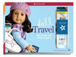 AMERICAN GIRL Doll Grace Travel Set Crafts Stickers Playing Cards Patterns More