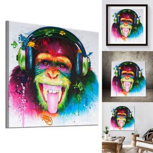 peinture huile tableau abstraite moderne toile gorille color art mual d co mode ebay. Black Bedroom Furniture Sets. Home Design Ideas