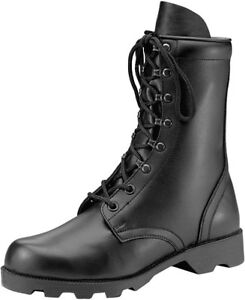 Image is loading Black-Leather-Speedlace-Military-Combat-Boots 70e860acd