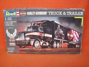 Revell-07980-Harley-Davidson-Truck-amp-Trailer-1-32