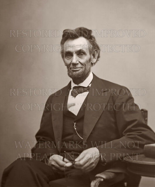 Abraham Lincoln 1869 White House Portrait Healy color photo 5x7 or request 8x10
