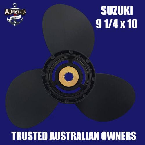 Suzuki 9 1//4 x 10 Propeller 8-9.9hp 15hp 20hp Prop 3 Blade Alloy 9.9-15-20hp