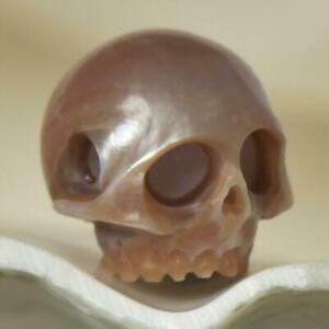 11-87mm-Human-Skull-Bead-Carving-Kasumi-like-Freshwater-Pearl-2-07g-side-drilled