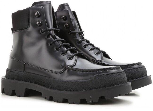 Men's PRADA Hi-Top Negro Combate botas De Nieve Zapatos PRADA US 10.5