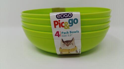 EDGO Pic/&go 4 Pack Plastic Bowls Pastel Colours Party Event Picnic BBQ Buffet