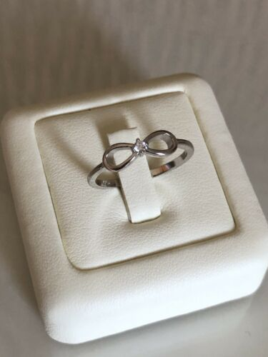 Genuine Sterling Silver Infinity Cubic Zirconia Ring All Sizes
