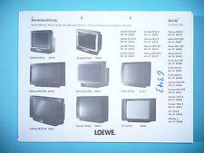 Service Manual-Istruzioni per Loewe calida 5784, Arcada 8755, lichen 4872, XELOS