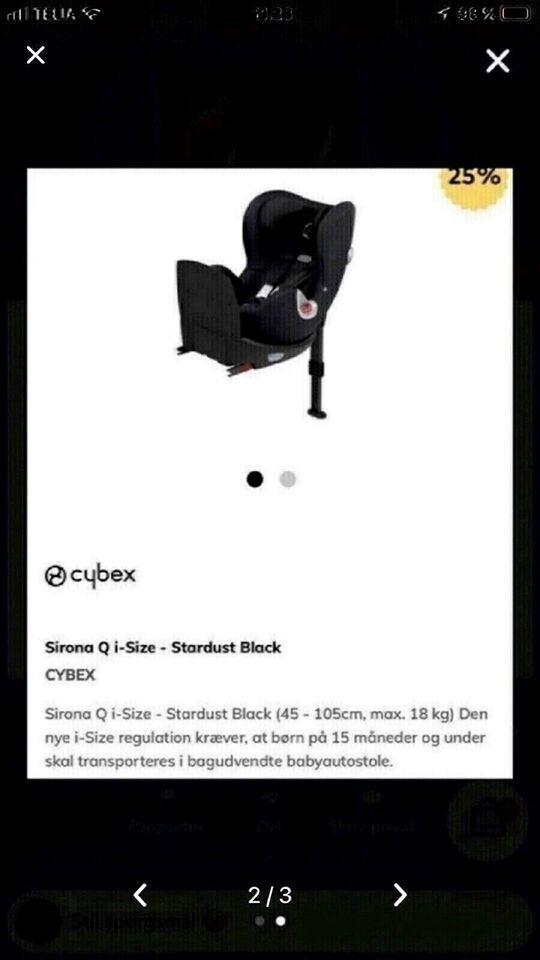 Autostol, op til 18 kg , Cybex Sirona Q med drejefunktion