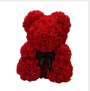 fashion 45cm giant large huge teddy bear red rose flowers toy