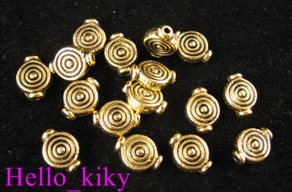100pcs Antiqued gold plt spiral pot spacer beads A305