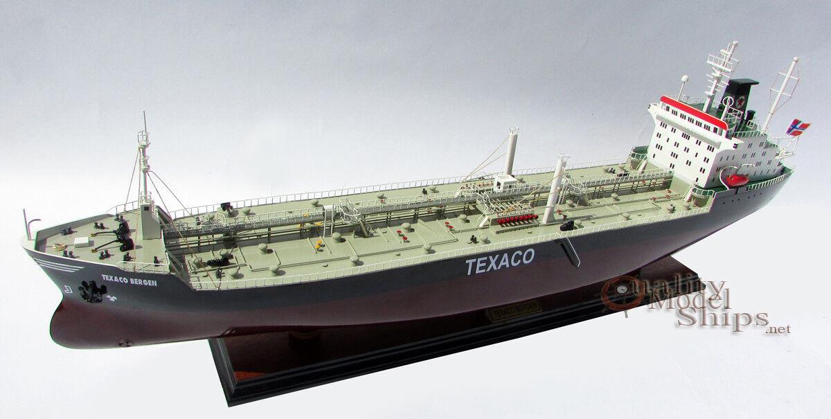 Texaco Bergen Tanker Handmade Wooden Oil Tanker Ship Model