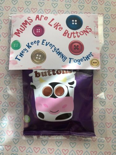 Mother's Day Gift Buttons Sweets Personalised Birthday Treat