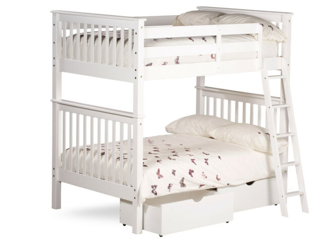 4ft Small Double Malvern Bunk Bed In White Ebay