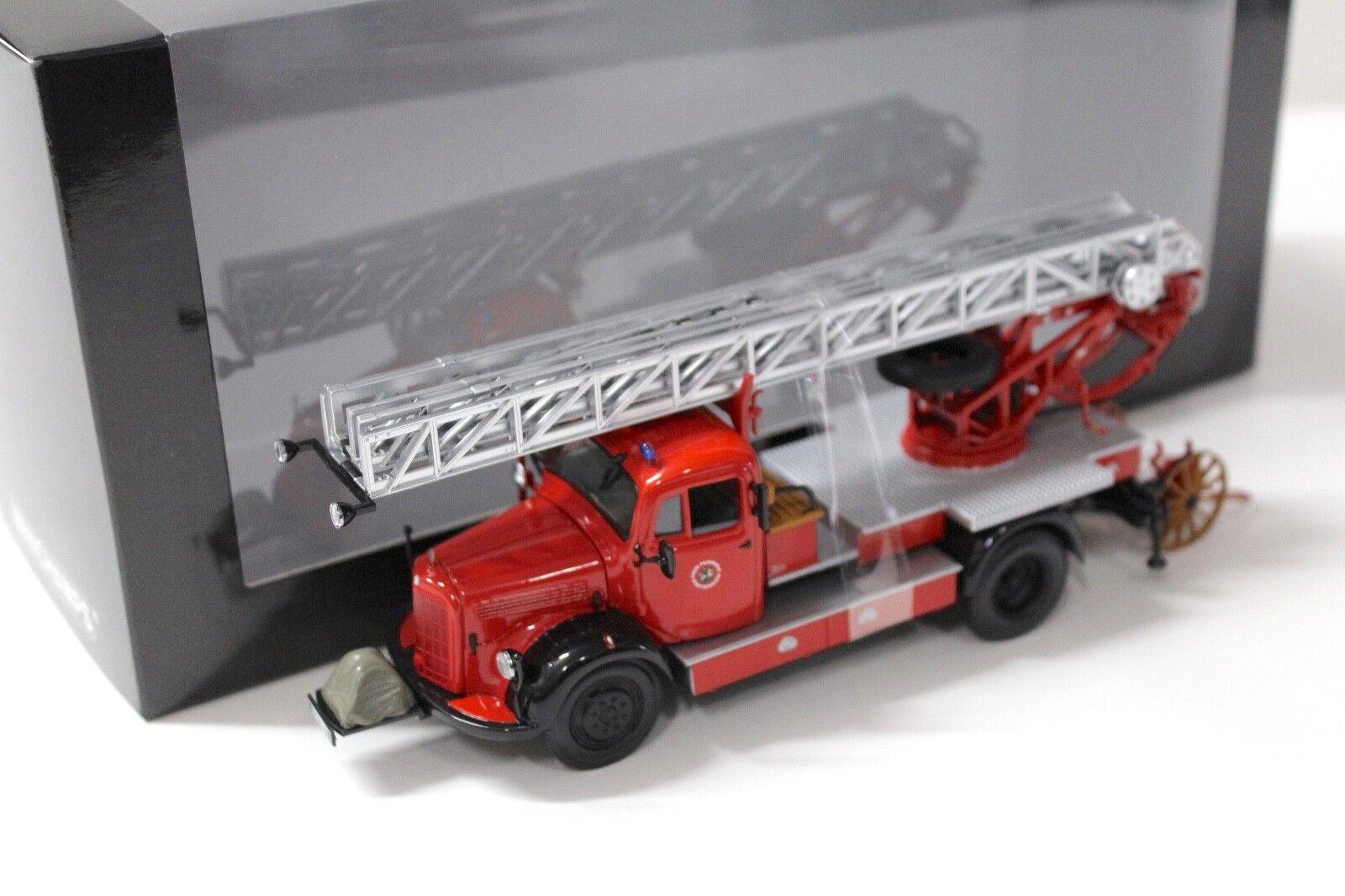1 43 Minichamps Mercedes l3500 dl17 pompiers Bensheim New chez Premium-modelcars