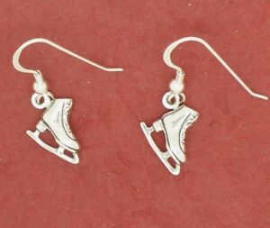 Image Is Loading Sterling Silver Ice Skate Boots Earrings Skating New