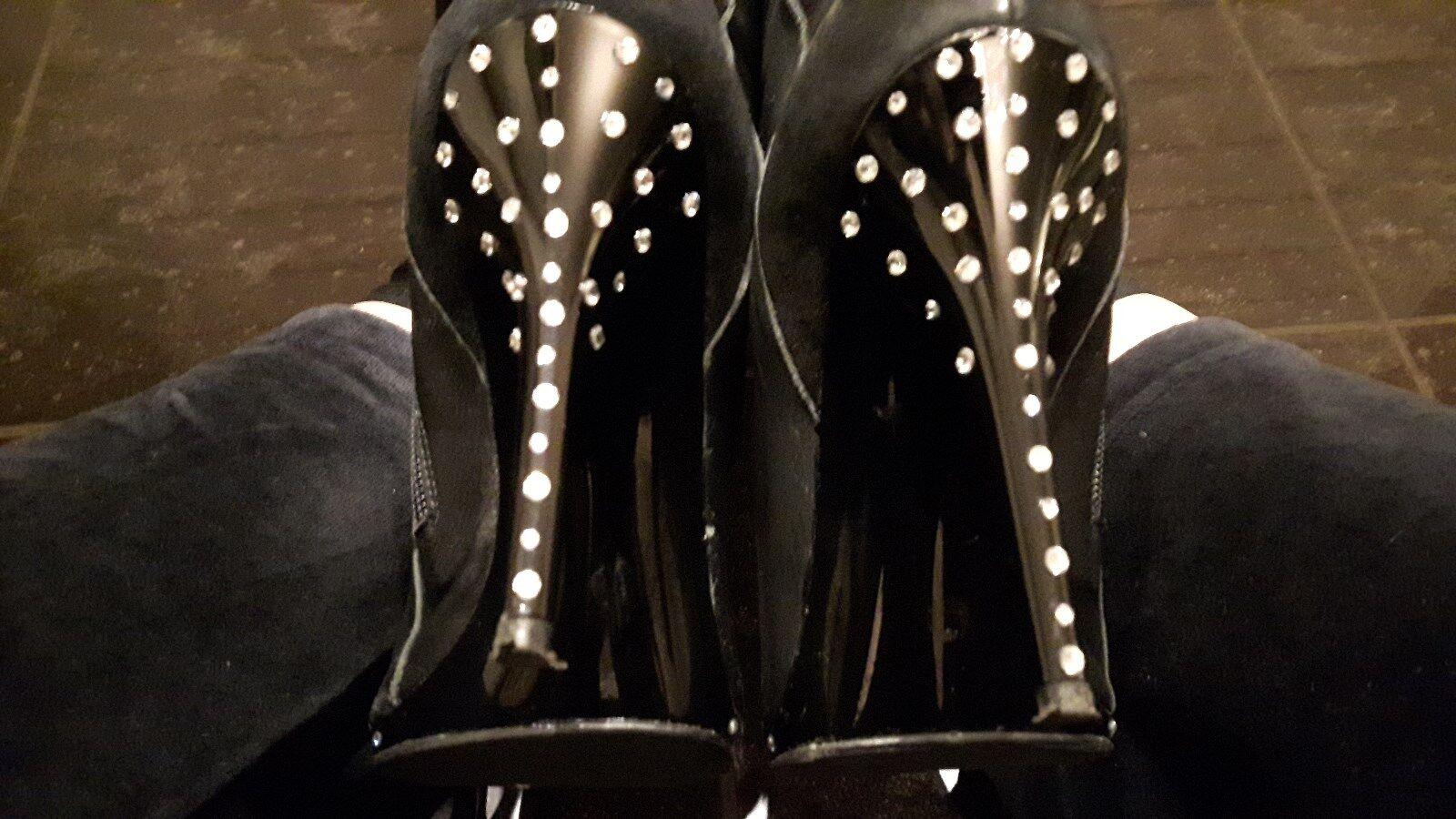 High Heels Damen Stiletto Stiefel Overknee 39, mit Swarovski-Absatz, Mi Piaci
