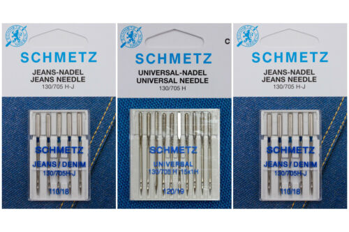 Universal 120//2x jeans 110 20 agujas Schmetz para máquina de coser