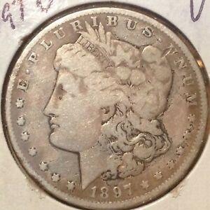 91918 1897-O Morgan Silver Dollar XF New Orleans Mint