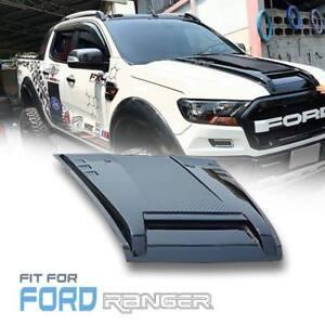 Bonnet Hood Scoop Gloss Black ABS Cover For Ford Ranger Mk2 Px2 XLT 2015-18