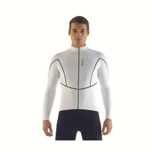 AcquaZero H2O Long Sleeve Cycling Jersey  in bianca  Made in  by Santini