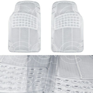 Clear Rubber Car Floor Mats Front 2 Piece Set All Weather Protection Flooring