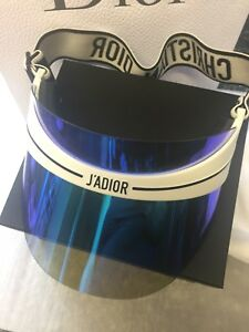 54544d82568eb Image is loading Christian-Dior-Runway-Diorclub1-2018-Sun-Visor-Hat-
