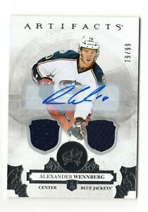 ALEXANDER WENNBERG NHL 2017-18 ARTIFACTS AUTO MATERIALS (BLUE JACKETS,PANTHERS)