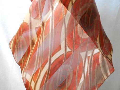 Tuch glänzend NEU NICKITUCH *033* braun 50 x 50 cm ABSTRAKT Halstuch