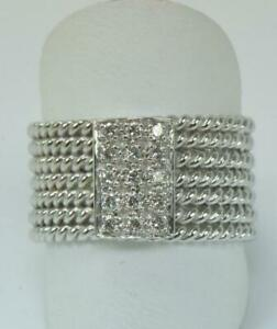 Diamantring-Ring-mit-Diamanten-0-30-ct-aus-750-18-kt-Weiss-Gold-Finger-Gr-58