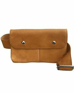 Tan-Handcrafted-Vintage-Cowhide-Leather-Fanny-Pack-Waist-Travel-Belt-Sac-Bag