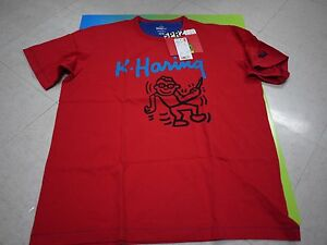 Keith haring x uniqlo sprz ny t shirt red all size us nwt for Uniqlo moma t shirt