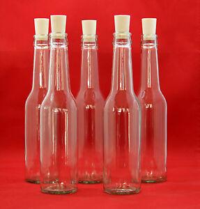 glasflaschen 275 ml schnaps flaschen essig l flasche antik auch 250 ml flaschen ebay. Black Bedroom Furniture Sets. Home Design Ideas