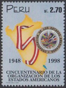 Perú 1126 1998 50 Años de la organización de los Estados Americanos MNH 7b1twVvU-07151940-961449877